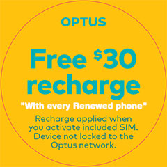 Free Optus recharge with every Renewed phone
